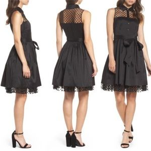 Eliza J Pleated Shirt Dress